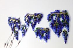 decorazione floreale in vetro