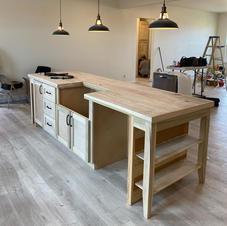 Custom Poplar Kitchen Island