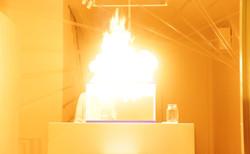 performance art visual fire