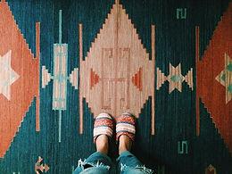 Bestickter Teppich