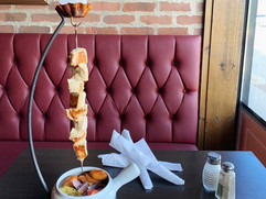 Weekend Feature: Chicken Kabob with Roasted Potatoes and Seasonal Vegetables - Shish Tabuk on Side