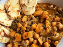 Red Thai Sweet Potato and Chickpea Curry