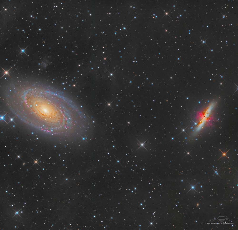 The Bode and cigar galaxy