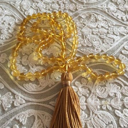 Citrine Mala Necklace