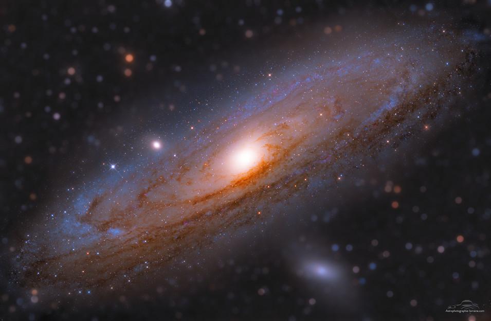 La galaxie d'Andromède en tiltshift