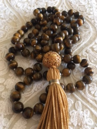 Tiger Eye Mala Necklace
