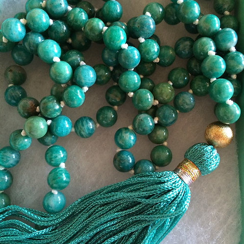 Green Jade Mala Necklace