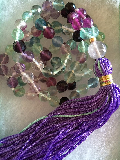 Fluorite Mala Necklace - Mixed Color