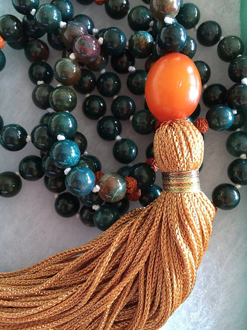 Bloodstone Mala Necklace