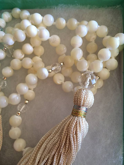 Mother of Pearl Mala Necklace