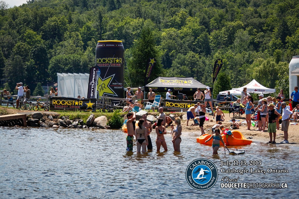 Calabogie Peaks Beach at the 2014 Wake Surf Nationals.