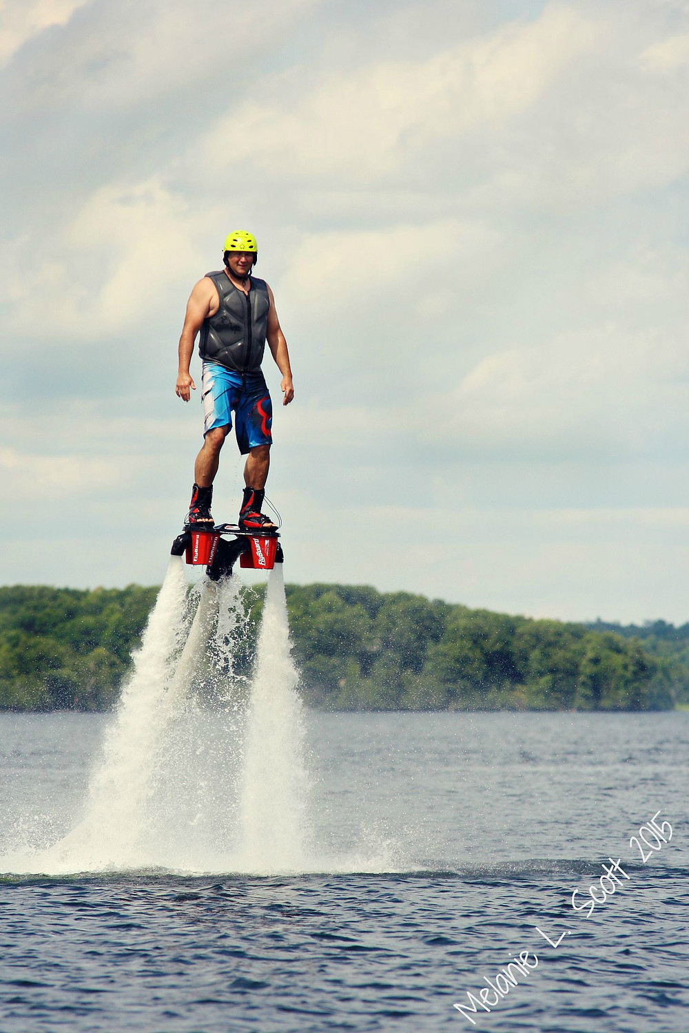 Brian rocking the Flyboard for the second time!  Photo courtesy of Melanie Scott.