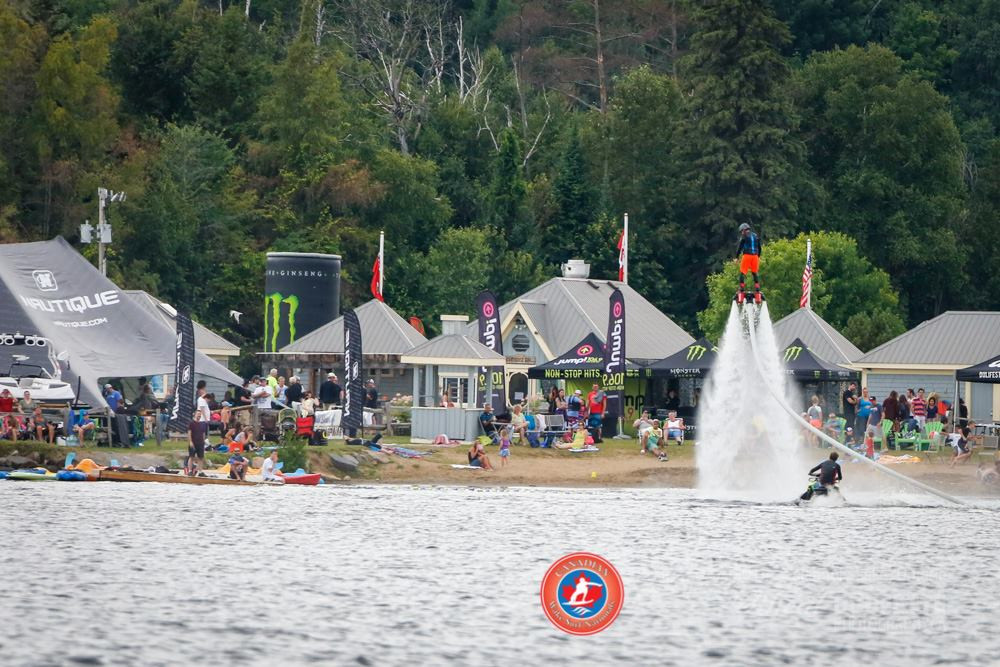 Flyboard infront of Calabogie Peaks at 2014 Wake Surf Nationals.
