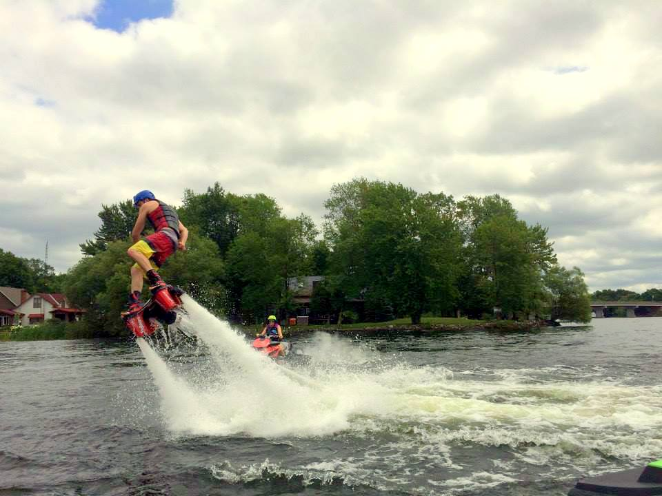 Flyboard at Big Rideau Ride for Dad