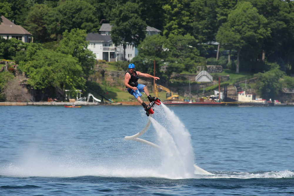 Franck Bergeron from FlyAxion on the Flyboard
