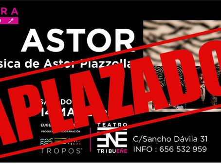 Aplazado el concierto en Madrid