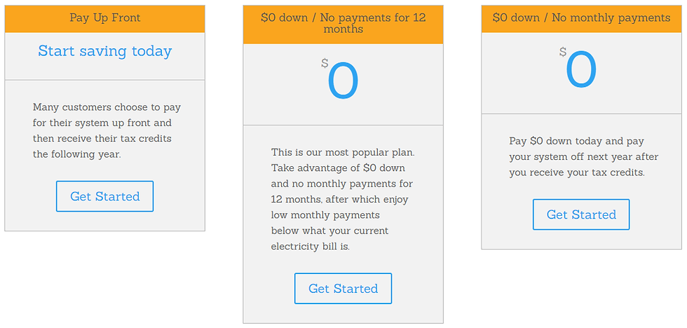 Immediate solar savings