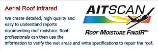 Aerial Roof infrared moisture finder