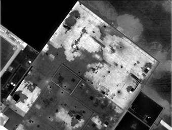Roof Leaks revealed through infrared survey