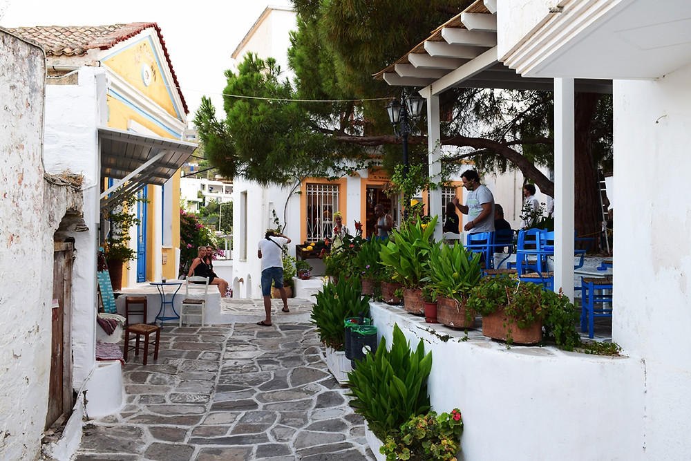 The traditional little square and cafe.