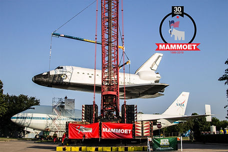 Space Shuttle Boeing 747 Mammoet Lifting
