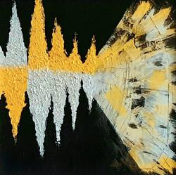 "Obraz akryl 50cm x 50cm pt. ""Dźwięk"" (2019)"