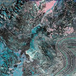 """Obraz akryl 40cm x 40cm pt. """"Perłowy szlak"""" (2020)"""