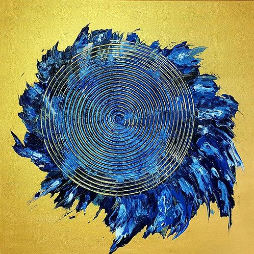 "Obraz akryl 50cm x 50cm pt. ""Kręgi życia"" (2020)"