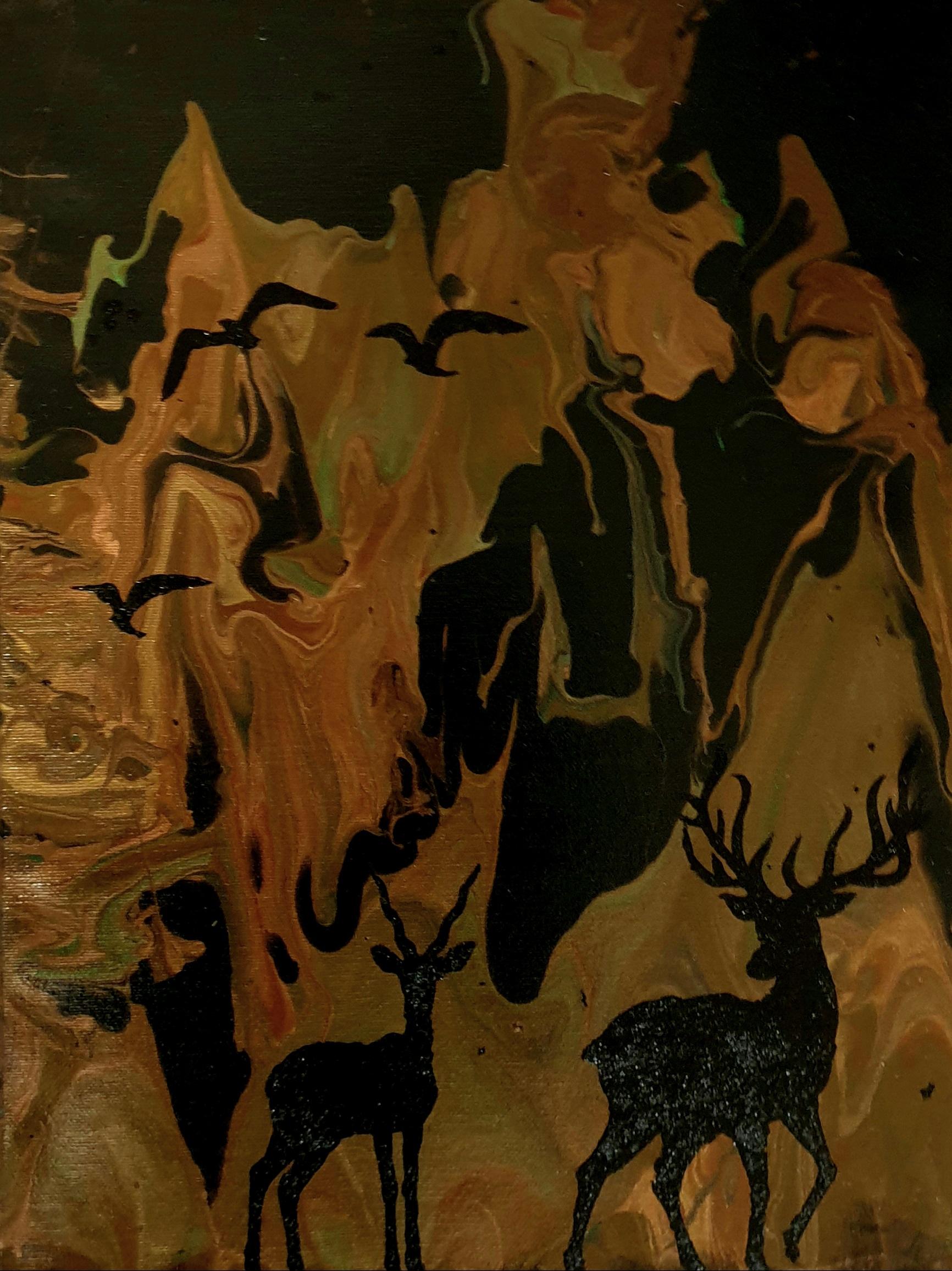 """Obraz akryl 30cm x 40cm pt. """"Wśród skał"""" (2020)"""