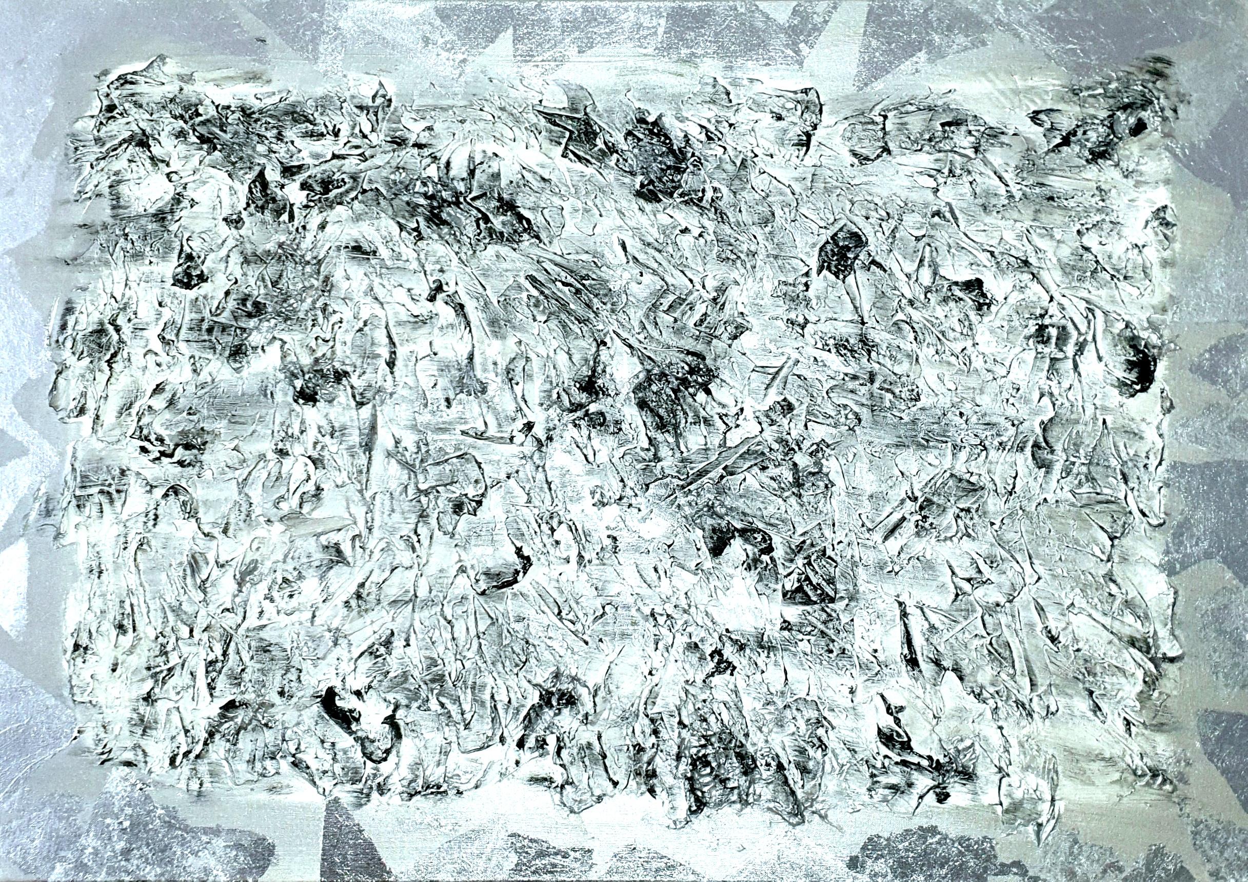 """Obraz akryl 100cm x 70cm pt. """"Śnieżne szczyty"""" (2020)"""