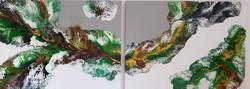 "Dwa obrazy akryl 100cm x 75cm x 4cm pt. ""Moc natury"" (2021)"