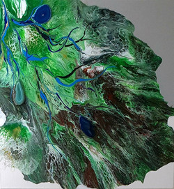 "Obraz akryl 60cm x 60cm x 4cm pt. ""Siła natury"" (2021)"