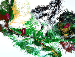 """Obraz akryl 100cm x 75cm x 4cm pt. """"Dzika magnolia"""" (2021)"""