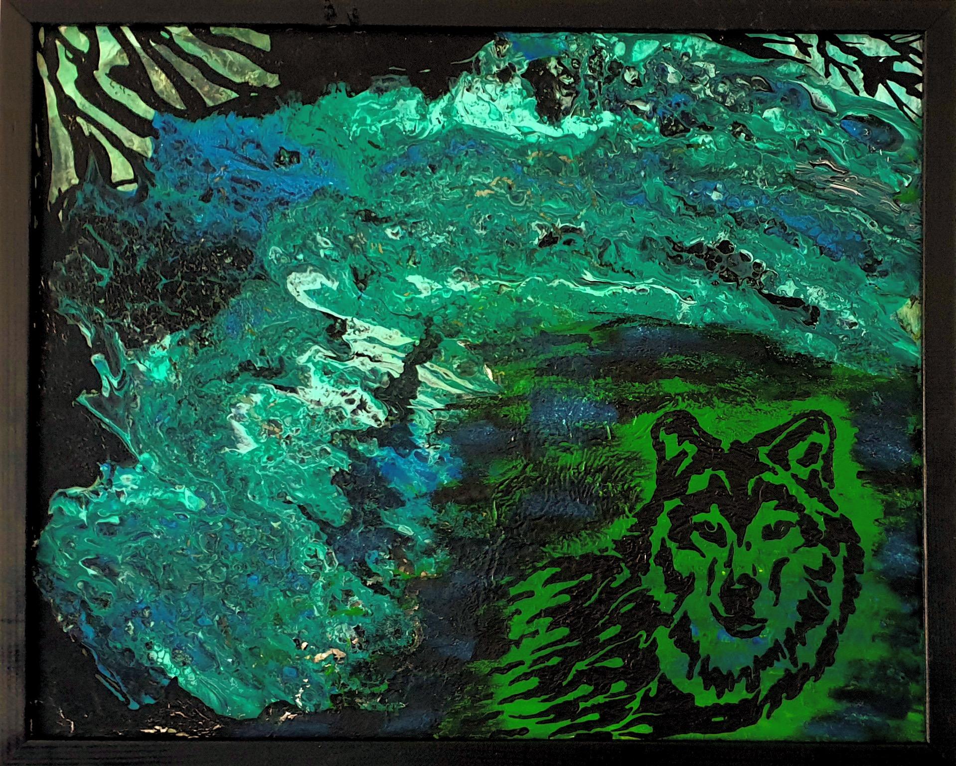 """Obraz akryl 54cm x 44cm pt. """"Wilk"""" (2020)"""