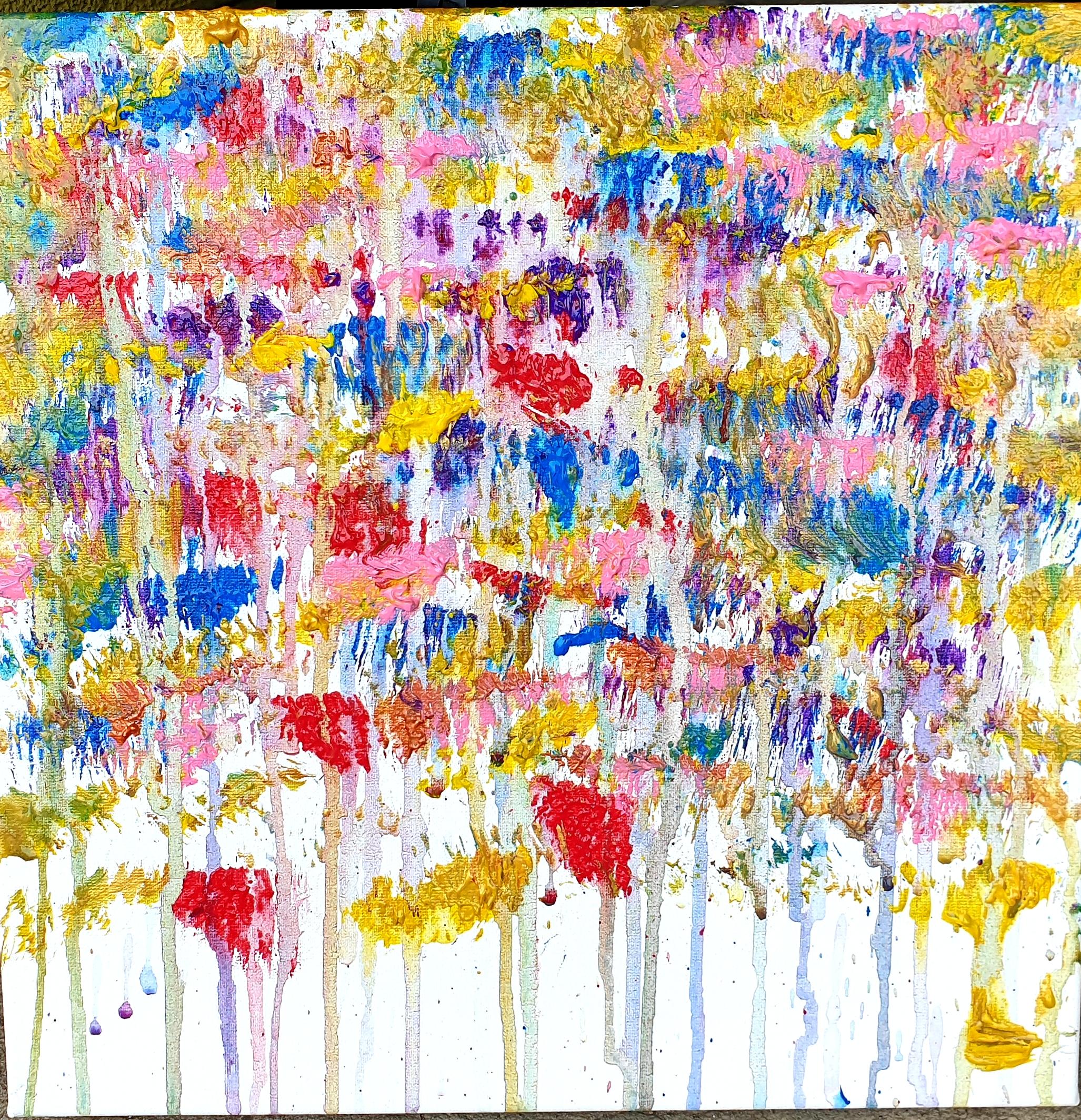 """Obraz akryl 50cm x 50cm pt. """"Deszczowa łąka"""" (2019)"""