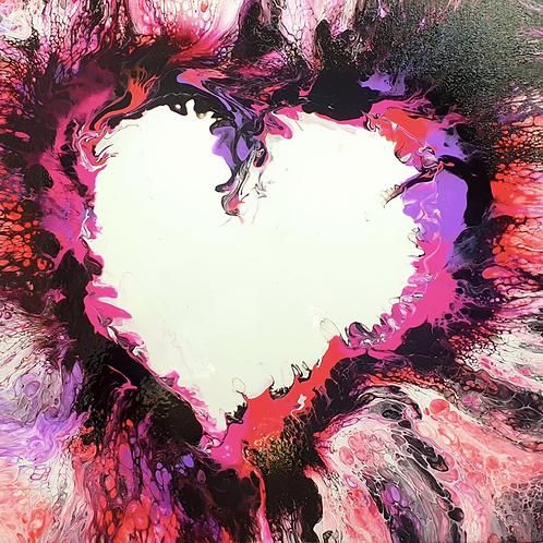 """Obraz akryl 50cm x 50cm pt. """"Love is in the air"""" (2021)"""