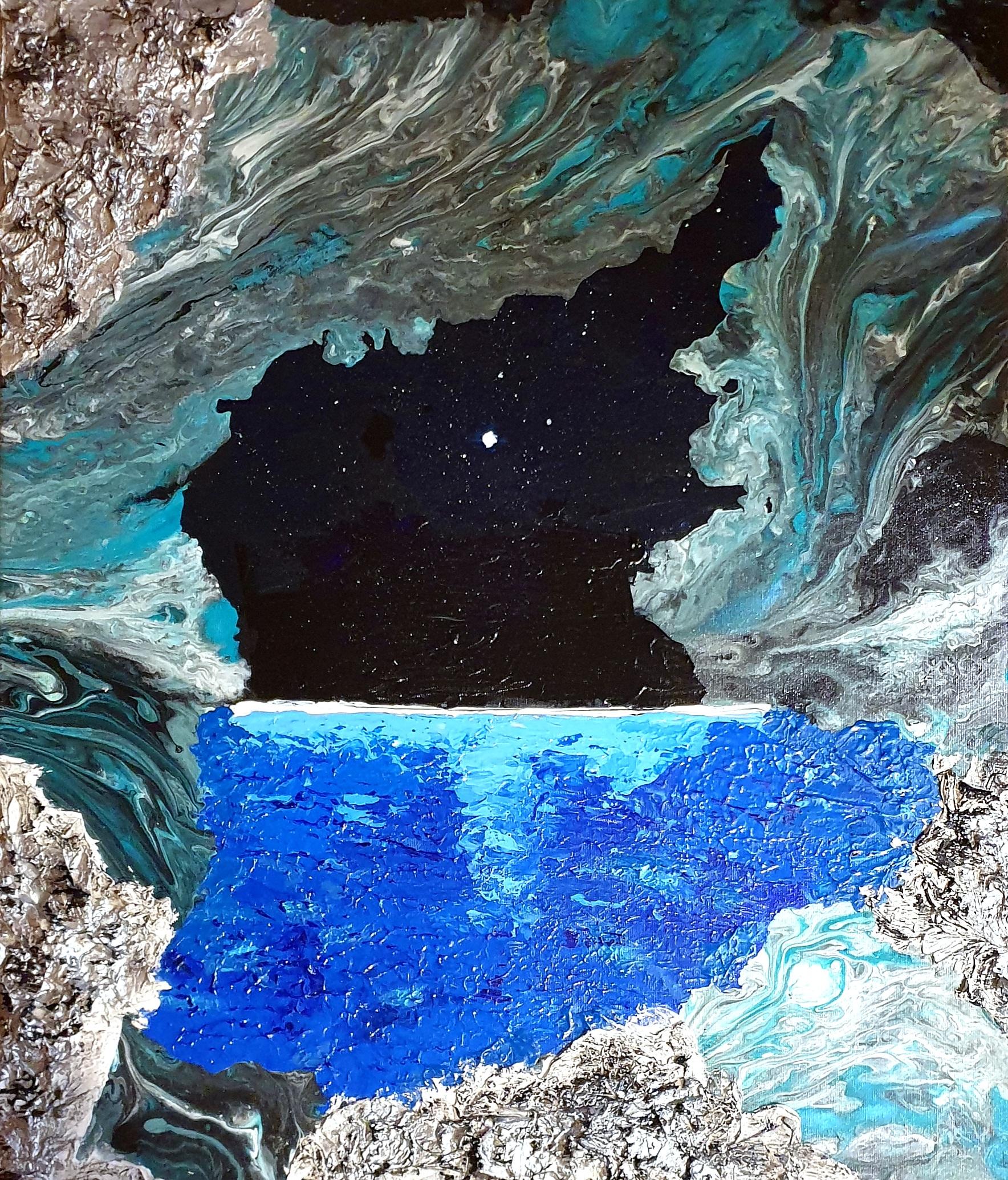 "Obraz akryl 60cm x 70cm pt. ""Jaskinia"" (2020)"