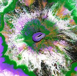 """Obraz akryl 50cm x 50cm x 4cm pt. """"Kwiat życia"""" (2021)"""