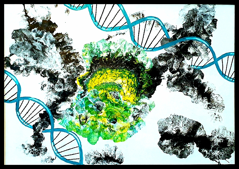 "Obraz akryl 106cm x 76cm pt. ""DNA"" (2020)"