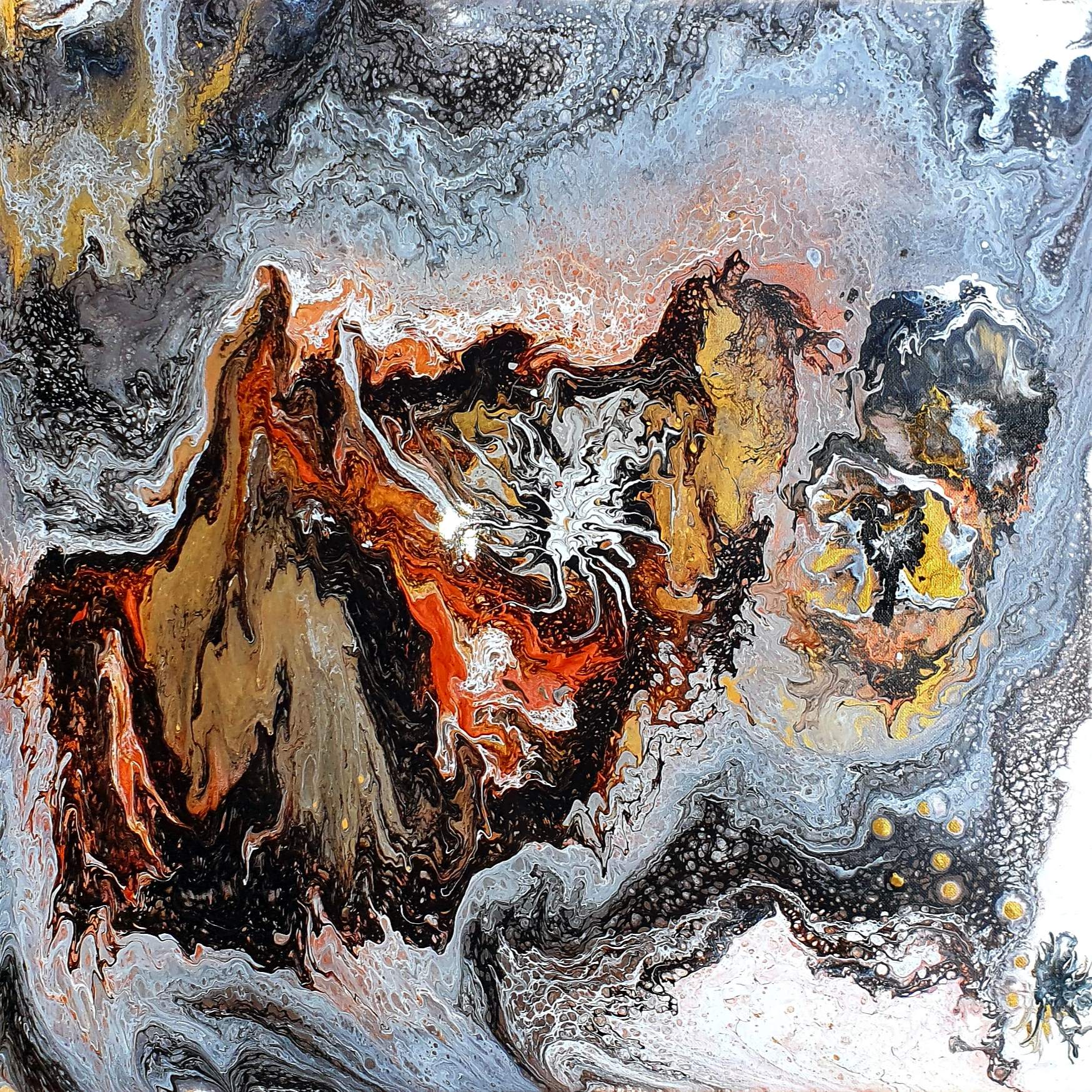 """Obraz akryl 60cm x 60cm pt. """"Marmurowy sen"""" (2020)"""