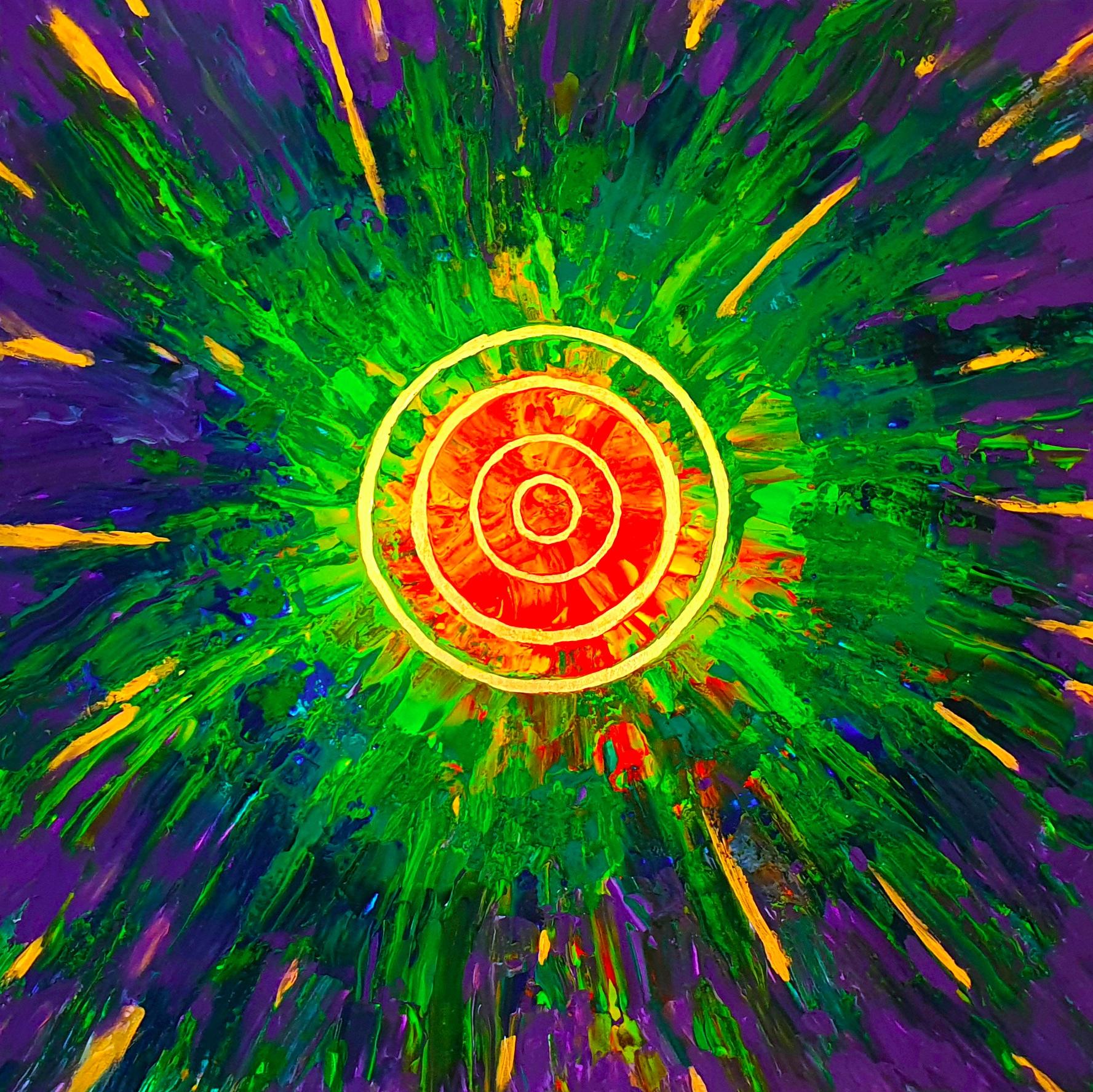 "Obraz akryl 80cm x 80cm pt. ""Solar"" (2020)"