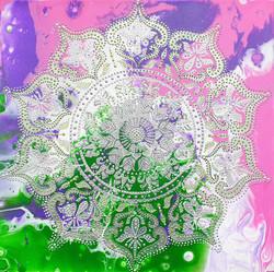 """Obraz akryl 50cm x 50cm pt. """"Mandala harmonii"""" (2021)"""