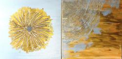 """Obrazy akryl 50cm x 50cm pt.""""Kwiat"""" i """"Echo"""" (2020)"""