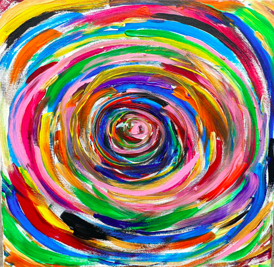 """Obraz akryl 50cm x 50cm pt. """"Wir"""" (2019)"""
