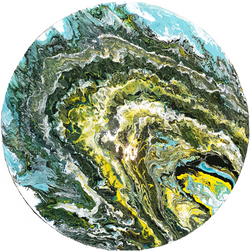 """Obraz akryl o średnicy 50cm pt. """"Przekrój"""" (2020)"""