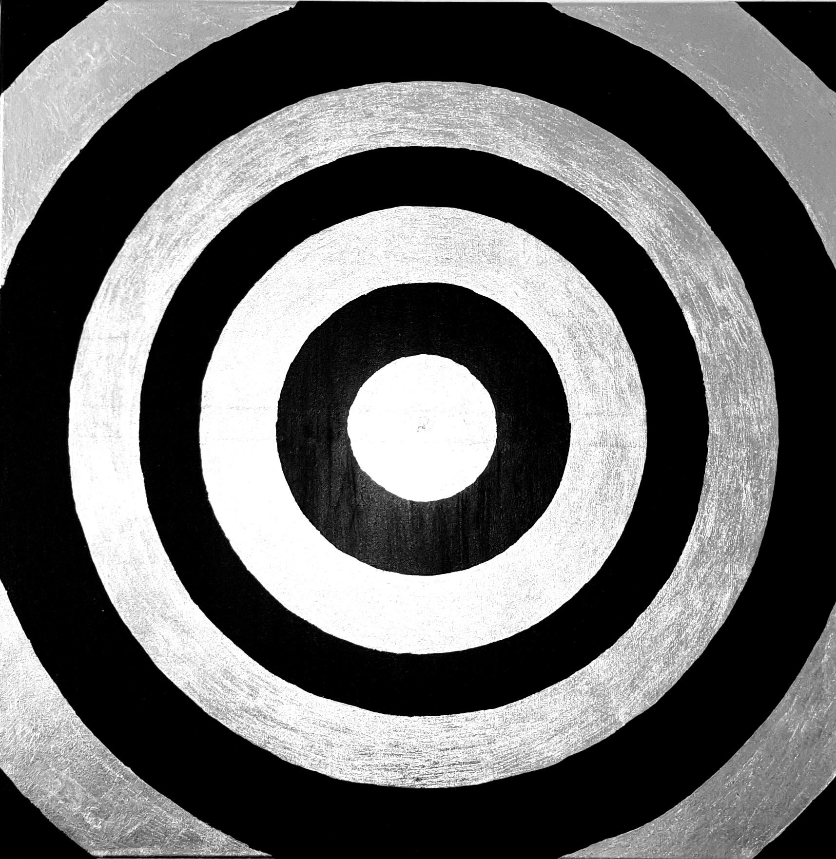 """Nowoczesny obraz akryl 80cm x 80cm pt. """"Atom"""" (2020)"""