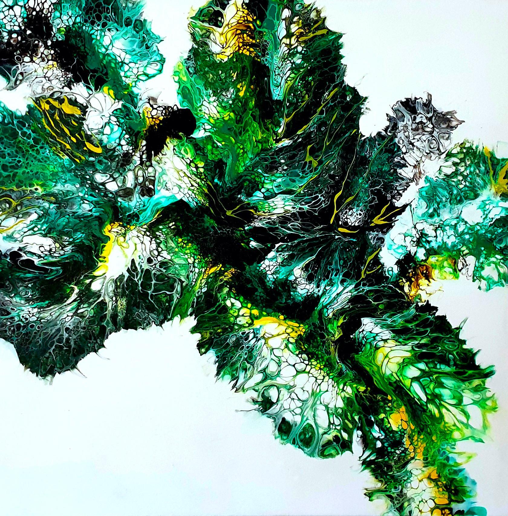 """Obraz akryl 80cm x 80cm pt.""""Magia zieleni"""" (2020)"""