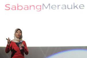 Ayu Kartika Dewi, Co-Founder SabangMerauke, salah satu pembicara dalam Talkshow