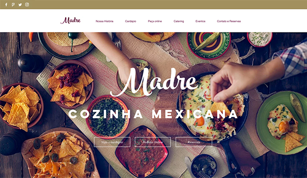 Restaurantes e Comida website templates – Restaurante Mexicano