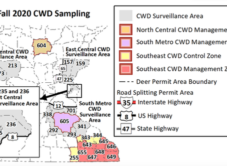 DNR Includes Parts of Pine Co. in New 2020 CWD Surveillance Areas
